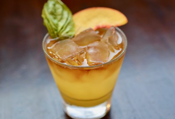 Peach Basil Cocktail